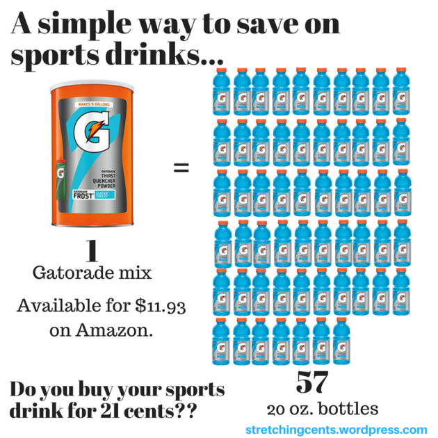 A simple way to save on sports drinks...